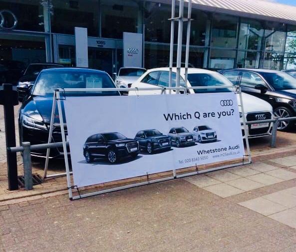 Audi A-Frame Banner