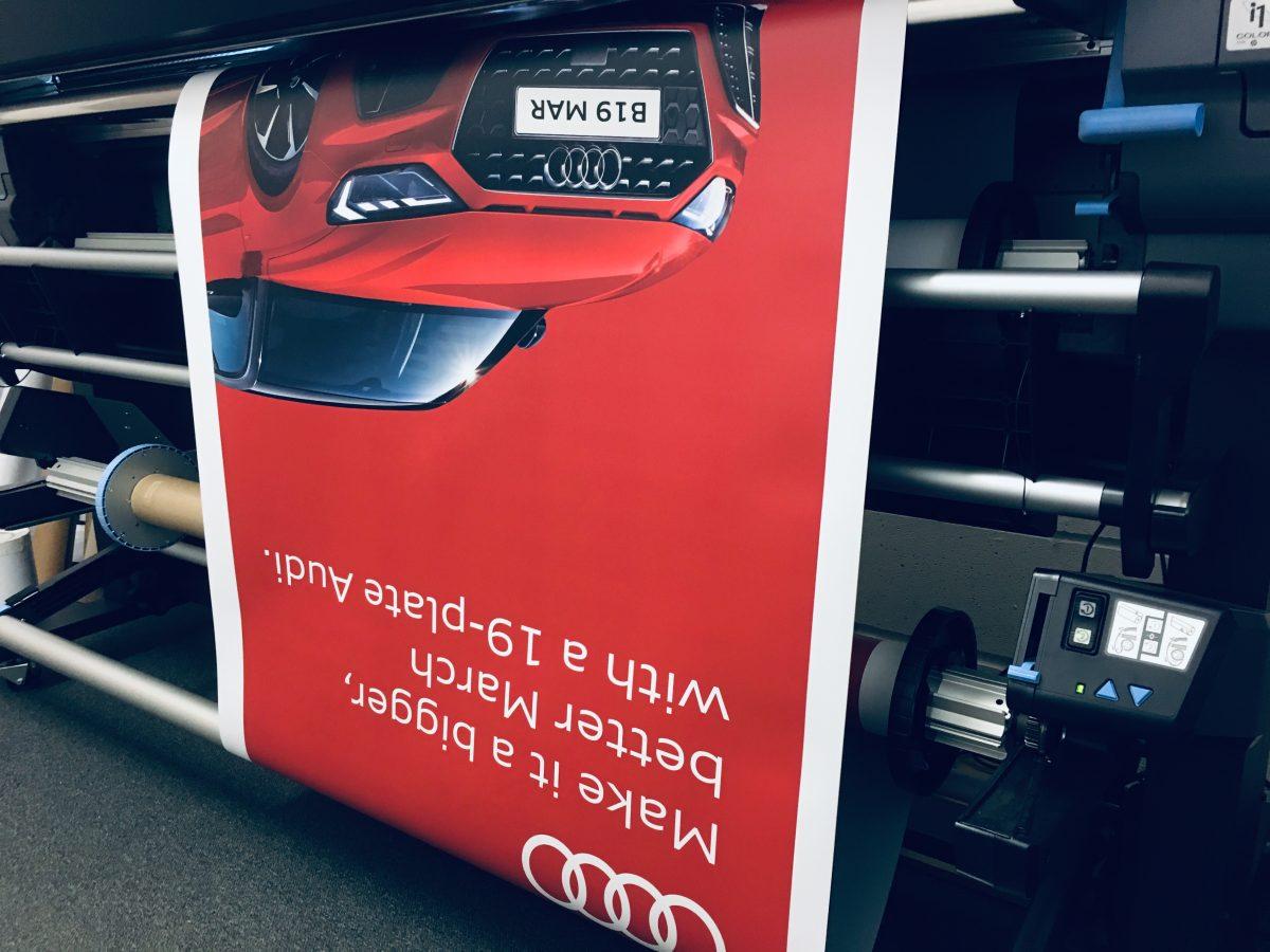 Audi Banner Printing