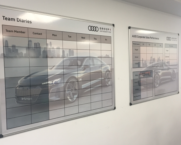 AUDI Whiteboards
