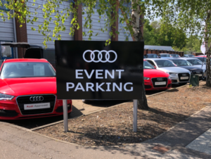 Stansted Audi Event Parking Magnetic Sign