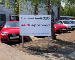 Stansted Audi Approved Magnetic Sign