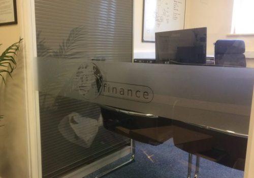 Finance Window Frosting