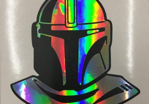 Mandalorian Rainbow Sticker