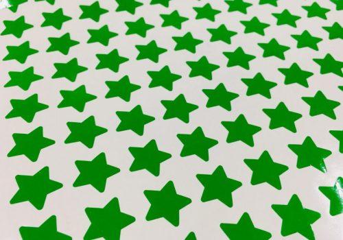 Star Stickers Green