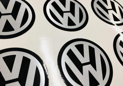 VW Metallilc Stickers